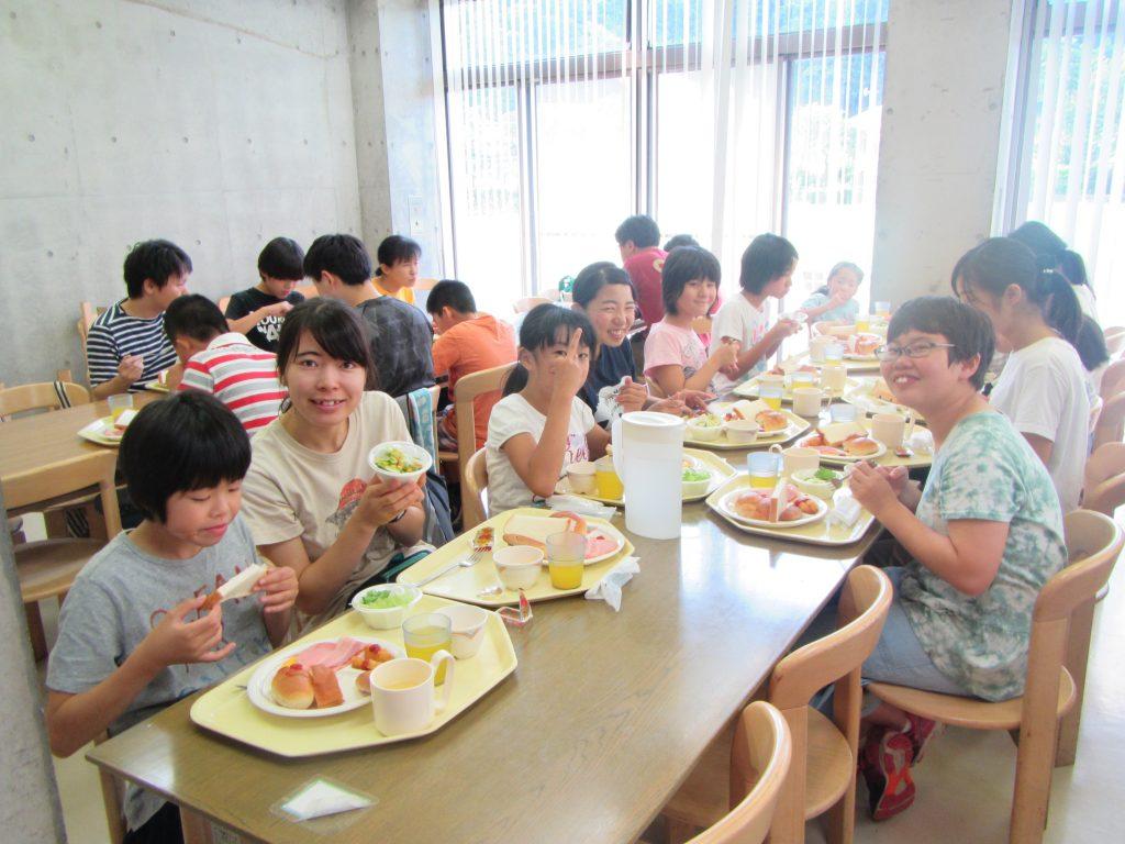夏合宿 朝食しっかり食べて、今日も楽しみます