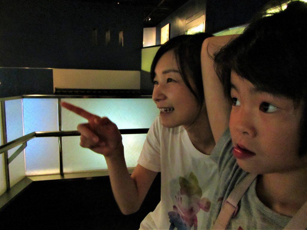 夏合宿 川の博物館 ダイナミックな映像に夢中