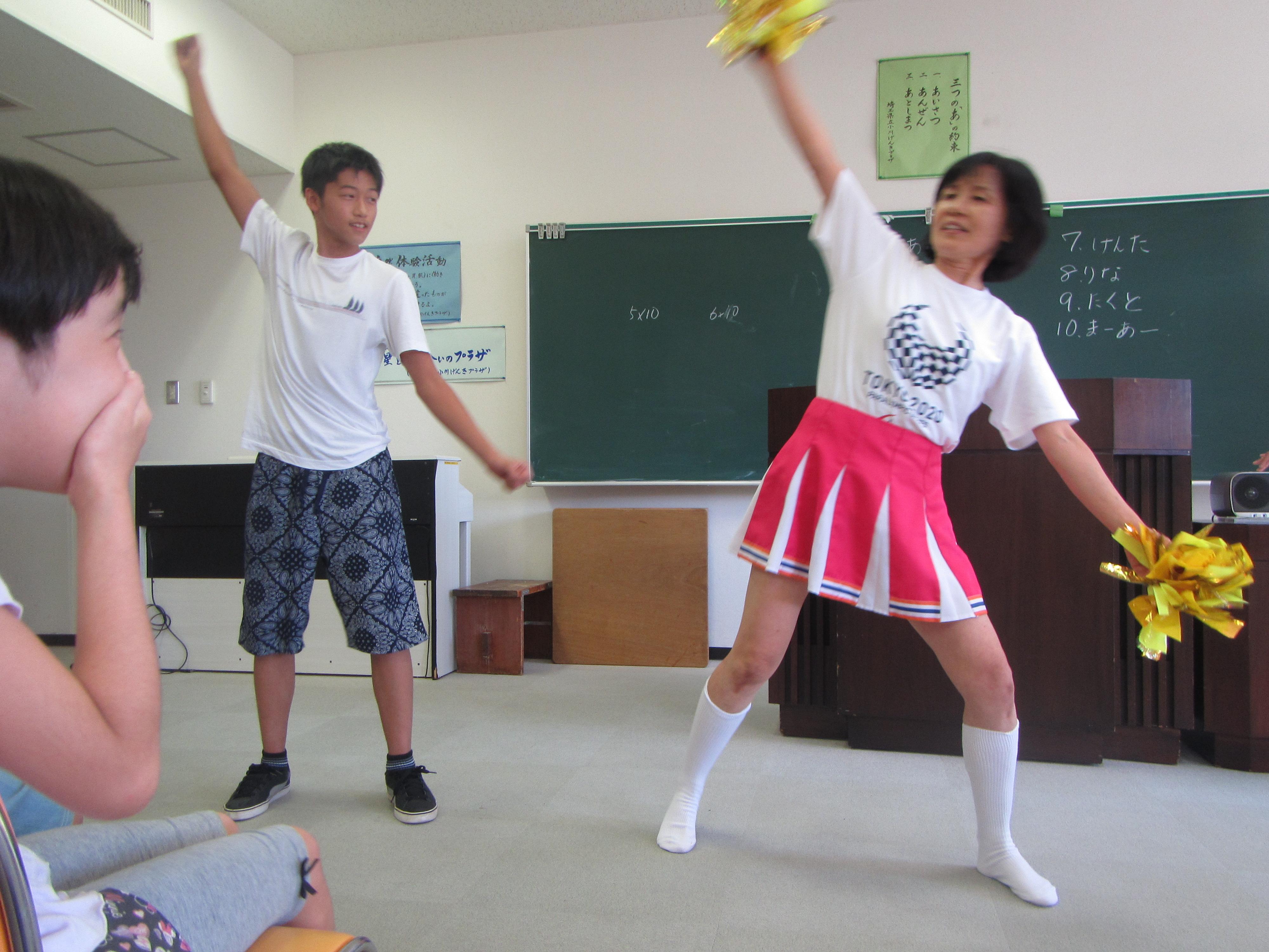 夏合宿 レクリエーション、ゲームやパフォーマンスで楽しみました。