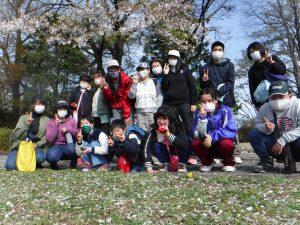 桜山公園ハイキング さくら満開!!ハイキング日和です。