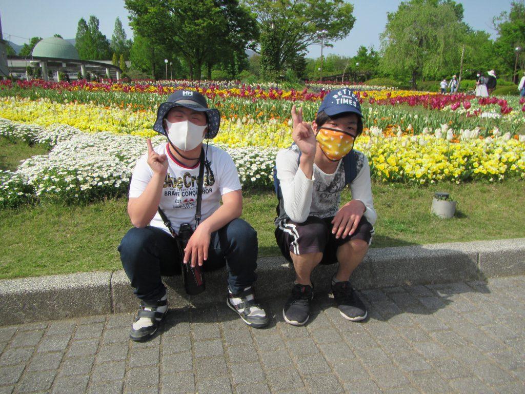 ぐんまフラワーパーク お花の中を散策、楽しかったです。