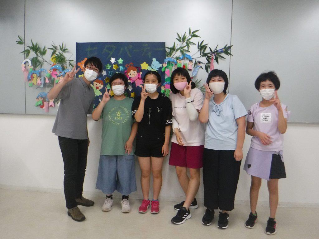 七夕パーティー 懐かしいスタッフ(当時学生アルバイト)、社会人になって会いに来てくれました。