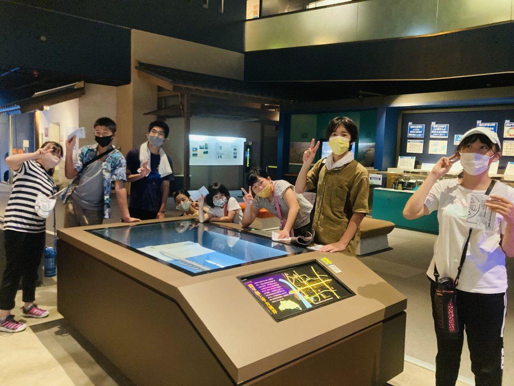 夏の思い出 川の博物館 今日は荒川の勉強です。